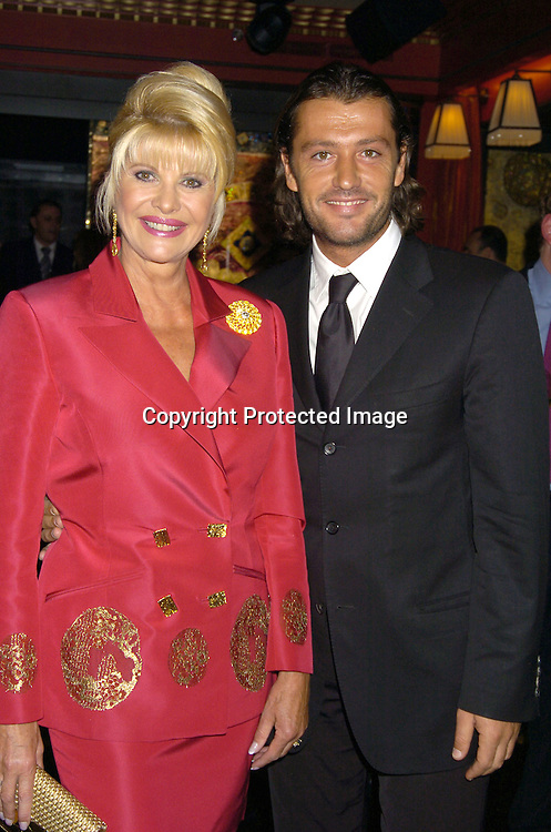 Ivana Trump and Rossano Rubicondi ..at a party at Club Fizz  for Ivana Trumps new Condominium in Las Vegas called Ivana Las Vegas on August 17, 2005...Photo by Robin Platzer, Twin Images