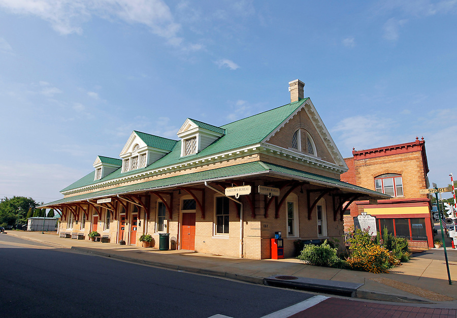 Historical train station downtown in Orange County, Virginia. Photo/Andrew Shurtleff