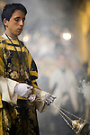 Altar boy with a censer, Holy Week 2008, Seville, Spain