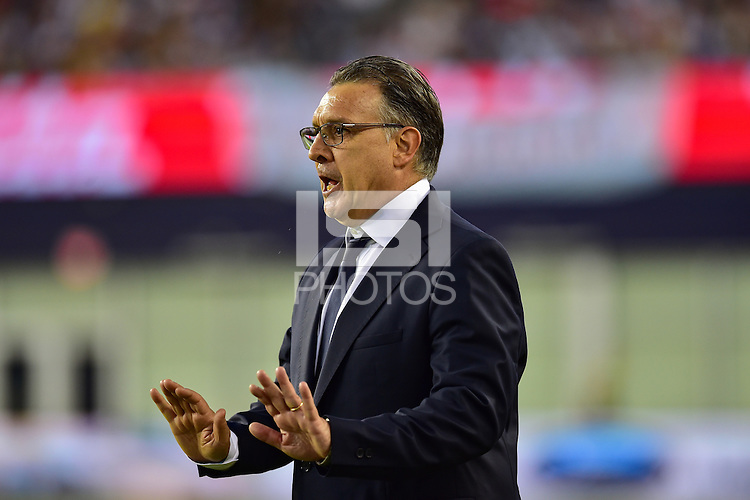 Foxborough, MA - Saturday June 18, 2016: Gerardo Martino during a Copa America Centenario quarterfinal match between Argentina (ARG) and Venezuela (VEN)  at Gillette Stadium.