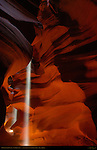 Double Light Beam, Upper Antelope Canyon, Tse-Bighanilini, Slot Canyon, Lake Powell Navajo Tribal Park, Page, Arizona