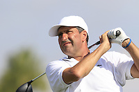 Jose Maria Olazabal (ESP) tees off the 10th tee during Thursday's Round 1 of the 2016 Portugal Masters held at the Oceanico Victoria Golf Course, Vilamoura, Algarve, Portugal. 19th October 2016.<br /> Picture: Eoin Clarke   Golffile<br /> <br /> <br /> All photos usage must carry mandatory copyright credit (© Golffile   Eoin Clarke)