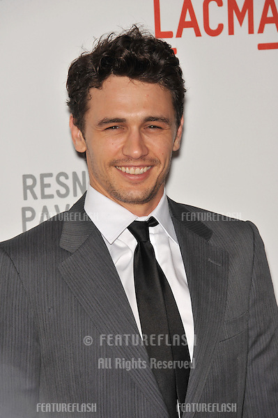 """James Franco at a benefit gala at the Los Angeles County Museum of Art (LACMA) to celebrate the official """"unmasking"""" of the museum's newest building, The Lynda and Stewart Resnick Exhibition Pavilion..September 25, 2010  Los Angeles, CA.Picture: Paul Smith / Featureflash"""
