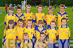 The Beaufort team that participated in the u10 Mid Kerry blitz in Beaufort on Saturday front row l-r: Patrick Crehan, Jack O'Leary. Middle row: Orla Murphy, Shane O'Sullivan-Rouse, Jack Sweeney, Eoin Sheehan, Niall O'Brien, William Joy. Back row: Aoife Murphy, Jack  Coffey, Patrick White, Jack Hallissey, Oisin O'Connor and Keith Floyd