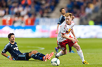 Dax McCarty (11) of the New York Red Bulls. Sporting Kansas City defeated the New York Red Bulls 1-0 during a Major League Soccer (MLS) match at Red Bull Arena in Harrison, NJ, on April 17, 2013.