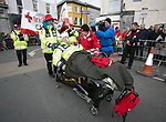 170318<br /> The Red Cross keeping busy during St Patricks Day parade in Ennis.Pic Arthur Ellis.