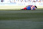 Atletico de Madrid's Radamel Falcao injured during La Liga match.April 14,2013. (ALTERPHOTOS/Acero)