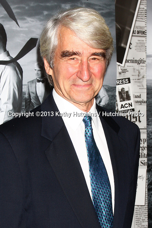 "LOS ANGELES - JUL 10:  Sam Waterston arrives at the HBO series ""The Newsroom"" Season 2 Premiere Screening at the Paramount Theater on July 10, 2013 in Los Angeles, CA"