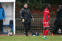 Ilford manager Martin Haywood during Ilford vs Walthamstow, Essex Senior League Football at Cricklefields Stadium on 6th October 2018