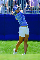 Danielle Kang (USA) watches her tee shot on 1 during Sunday's final round of the 2017 KPMG Women's PGA Championship, at Olympia Fields Country Club, Olympia Fields, Illinois. 7/2/2017.<br /> Picture: Golffile   Ken Murray<br /> <br /> <br /> All photo usage must carry mandatory copyright credit (&copy; Golffile   Ken Murray)