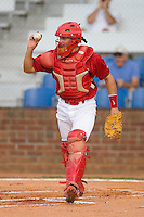 Travis Tartamella #31 of the Johnson City Cardinals throws the ball back to the mound after the third out versus the Bluefield Orioles at Howard Johnson Field August 1, 2009 in Johnson City, Tennessee. (Photo by Brian Westerholt / Four Seam Images)