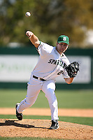 February 20, 2009:  Pitcher Kurt Wunderlich (26) of Michigan State University during the Big East-Big Ten Challenge at Jack Russell Stadium in Clearwater, FL.  Photo by:  Mike Janes/Four Seam Images