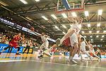 10.03.2019, RASTA Dome 2.0, VECHTA, GER, easycredit-bbl, RASTA Vechta vs  FC Bayern M&uuml;nchen, im Bild<br /> <br /> #Philipp Herjenhoff (Rasta Vechta #14)<br /> Tyrone Nash (Rasta Vechta #099<br /> Leon Rado&scaron;ević / Radosevic (Bayern Muenchen BBL #10)<br /> Foto &copy; nordphoto / Kokenge