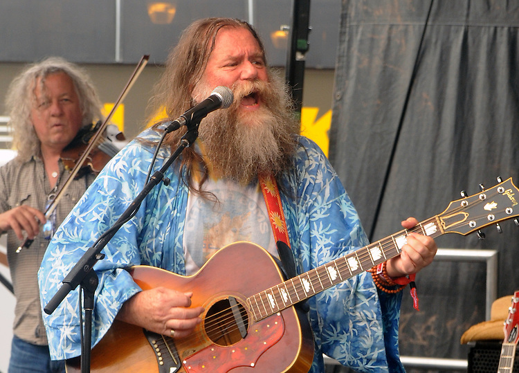 (Left to right) Tim Carbone, and Phil Void, of the Dharma Bums, who were the opening act on the West Stage of the Mountain Jam Music Festival of 2015, in Hunter, NY, on Thursday June 4, 2015. Photo by Jim Peppler. Copyright Jim Peppler 2015.