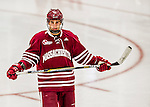 15 November 2015: University of Massachusetts Minuteman Forward Anthony Petrella, a Sophomore from Hilton, NY, in action against the University of Vermont Catamounts at Gutterson Fieldhouse in Burlington, Vermont. The Minutemen rallied from a three goal deficit to tie the game 3-3 in their Hockey East matchup. Mandatory Credit: Ed Wolfstein Photo *** RAW (NEF) Image File Available ***