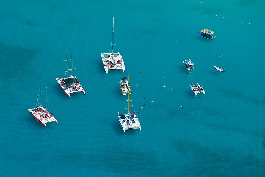 Boats at anchor, Carlisle Bay, Barbados