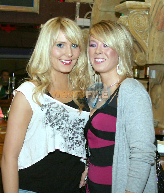 Melissa Healy and Imogen Nolan in Shooters...Photo NEWSFILE/Jenny Matthews.(Photo credit should read Jenny Matthews/NEWSFILE)....This Picture has been sent you under the condtions enclosed by:.Newsfile Ltd..The Studio,.Millmount Abbey,.Drogheda,.Co Meath..Ireland..Tel: +353(0)41-9871240.Fax: +353(0)41-9871260.GSM: +353(0)86-2500958.email: pictures@newsfile.ie.www.newsfile.ie.FTP: 193.120.102.198.