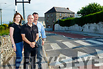 Marian Godley, Mike Harkin and Andy Smith at the new traffic calming and zebra crossing as part of the Ballyheigue renewal project.