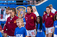 FRISCO, TX - MARCH 11: Leila Ouahabi #15 of Spain walks out onto the field during a game between England and Spain at Toyota Stadium on March 11, 2020 in Frisco, Texas.