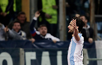 Europa League quarter-final 1st leg <br /> S.S. Lazio - FC Salzburg  Olympic Stadium Rome, April 5, 2018.<br /> Lazio's Marco Parolo celebrates after scoring during the Europa League match between Lazio and Salzburg at Rome's Olympic stadium, April 5, 2018.<br /> UPDATE IMAGES PRESS/Isabella Bonotto