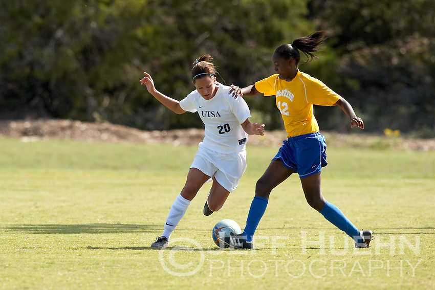 SAN ANTONIO, TX - OCTOBER 22, 2006: The McNeese State University Cowgirls vs. The University of Texas at San Antonio Roadrunners Women's Soccer at the UTSA Soccer Field. (Photo by Jeff Huehn)