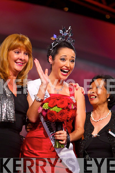 Tara Talbot, Queensland rose, being crowned the 2011 International Rose of Tralee in the dome on Tuesday evening.