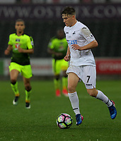 Pictured: Daniel James of Swansea City Monday 15 May 2017<br /> Re: Premier League Cup Final, Swansea City FC U23 v Reading U23 at the Liberty Stadium, Wales, UK