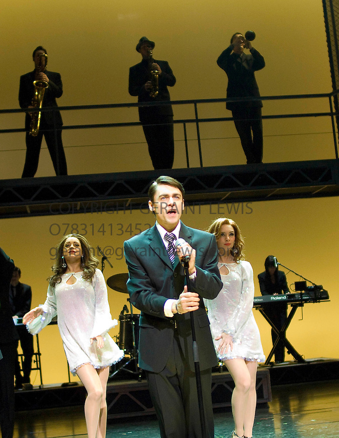Jersey Boys. Book by Marshall Brickman and Rick Elice,Music by Bob Gaudio,Lyrics by Bob Crewe.Directed by Des McAnuff.With Ryan Molloy as Frankie Valli. Opens at The Prince Edward Theatre  18/3/08. CREDIT Geraint Lewis