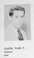 Paul Simon Forest Hills High School (Queens N.Y.) Yearbook.1958 Senior Year Portraits By Jonathan Green Celebrity Photography USA