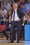 League ACB-ENDESA 2017/2018.<br /> PlayOff-Semifinal-Game: 3<br /> FC Barcelona Lassa vs Kirolbet Baskonia: 67-65.<br /> Svetislav Pesic.