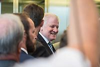 Innenminister Horst Seehofer, CSU, nach waehrend einer ausserordentlichen Sitzung der CDU/CSU-Fraktion nachdem es zwischen der CDU und der CSU zum Streit ueber den Umgang mit Fluechtlingen gab. Die Sitzung des Deutschen Bundestag wurde aufgrund dieses Streit auf Antrag der CDU/CSU-Fraktion fuer mehrere Stunden unterbrochen. Die Fraktionen von CDU und CSU tagten getrennt.<br /> 14.6.2018, Berlin<br /> Copyright: Christian-Ditsch.de<br /> [Inhaltsveraendernde Manipulation des Fotos nur nach ausdruecklicher Genehmigung des Fotografen. Vereinbarungen ueber Abtretung von Persoenlichkeitsrechten/Model Release der abgebildeten Person/Personen liegen nicht vor. NO MODEL RELEASE! Nur fuer Redaktionelle Zwecke. Don't publish without copyright Christian-Ditsch.de, Veroeffentlichung nur mit Fotografennennung, sowie gegen Honorar, MwSt. und Beleg. Konto: I N G - D i B a, IBAN DE58500105175400192269, BIC INGDDEFFXXX, Kontakt: post@christian-ditsch.de<br /> Bei der Bearbeitung der Dateiinformationen darf die Urheberkennzeichnung in den EXIF- und  IPTC-Daten nicht entfernt werden, diese sind in digitalen Medien nach &szlig;95c UrhG rechtlich geschuetzt. Der Urhebervermerk wird gemaess &szlig;13 UrhG verlangt.]