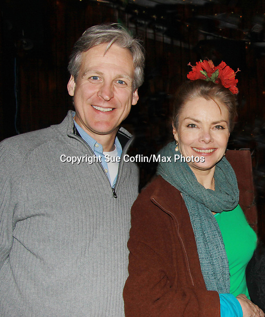 "All My Children's Tom Galantich ""Dr. Chappell"", also  ""Mark Casey"" OLTL and ""Dr. Swan"" ATWT poses with Guiding Light Denise Pence ""Katie Parker"" on Guiding Light and was producer of the event at ""Union Women at Work: Inspiration In Motion"" on March 5, 2012 at Theatre at Saint Peter's Church - Home of The York Theatre, New York City, New York which was Sponsored by Actors' Equity Associations Eastern EEO Committee.  The event was an Equity event in celebration of Womens History Month................. at Theatre at Saint Peter's Church - Home of The York Theatre, New York City, New York which was Sponsored by Actors' Equity Associations Eastern EEO Committee.  The event was an Equity event in celebration of Womens History Month.  (Photo by Sue Coflin/Max Photos)"