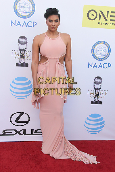 PASADENA, CA - FEBRUARY 5: Laura Govan at the 47th NAACP Image Awards presented by TV One at Pasadena Civic Auditorium on February 5, 2016 in Pasadena, California. <br /> CAP/MPI25<br /> &copy;MPI25/Capital Pictures