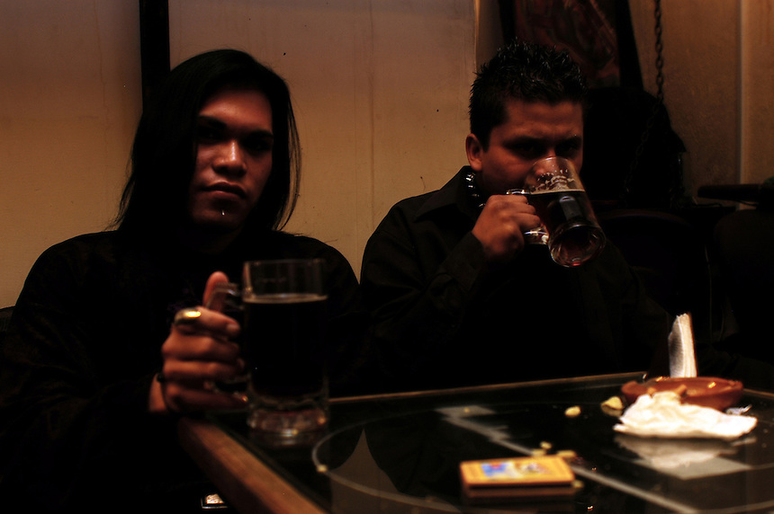 """Darkies"" or ""Goths"" at cafe Bizarro in Coyoacan, Mexico City, August 27, 2005"