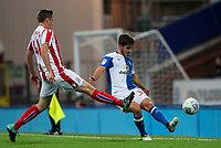 Blackburn Rovers' Jack Doyle crosses under pressure from Stoke City U23s' Mark Waddington <br /> <br /> Photographer Andrew Kearns/CameraSport<br /> <br /> The EFL Checkatrade Trophy - Blackburn Rovers v Stoke City U23s - Tuesday 29th August 2017 - Ewood Park - Blackburn<br />  <br /> World Copyright &copy; 2018 CameraSport. All rights reserved. 43 Linden Ave. Countesthorpe. Leicester. England. LE8 5PG - Tel: +44 (0) 116 277 4147 - admin@camerasport.com - www.camerasport.com