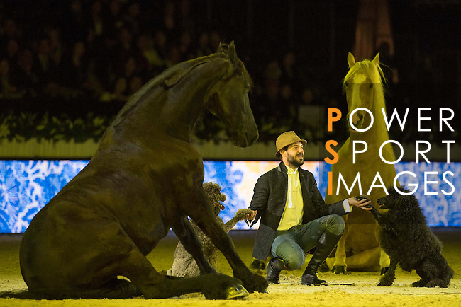 Santi Serra show presented by Shanghai Tang during Longines Masters of Hong Kong on 11 February 2017 at the Asia World Expo in Hong Kong, China. Photo by Victor Fraile / Power Sport Images