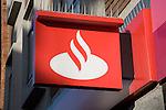 Santander bank logo sign