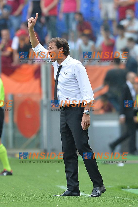 Rudi Garcia, allenatore della AS Roma.<br /> Roma 21-09-2014 Stadio Olimpico. Football Calcio 2014/2015 Serie A. AS Roma - Cagliari. Foto Antonietta Baldassarre / Insidefoto