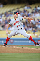 05/13/13 Los Angeles, CA: Washington Nationals starting pitcher Jordan Zimmermann #27 in a MLB game played between the Los Angeles Dodgers and the Washington Nationals at Dodger Stadium. The Nationals defeated the Dodgers 6-2
