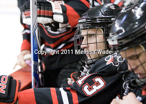 Randy Guzior (Northeastern - 13) - The visiting Northeastern University Huskies defeated the Boston University Terriers 5-4 on Sunday, March 13, 2011, to win their Hockey East Quarterfinal matchup 2 games to 1 at Agganis Arena in Boston, Massachusetts.