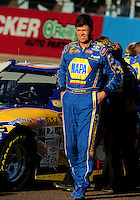 Nov. 7, 2008; Avondale, AZ, USA; NASCAR Sprint Cup Series driver Michael Waltrip during qualifying for the Checker Auto Parts 500 at Phoenix International Raceway. Mandatory Credit: Mark J. Rebilas-