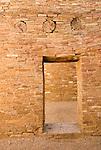 Pueblo Bonito-door with three vigas..Chaco Culture National Historical Park