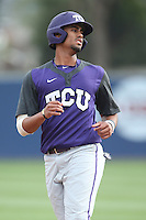 Michael Landestoy (7) of the TCU Horned Frogs before a game against the Loyola Marymount Lions at Page Stadium on March 16, 2015 in Los Angeles, California. TCU defeated Loyola, 6-2. (Larry Goren/Four Seam Images)