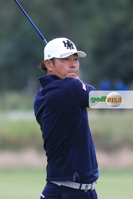 Hideto Tanihara (JPN) in action during the second round of the Porsche European Open , Green Eagle Golf Club, Hamburg, Germany. 06/09/2019<br /> Picture: Golffile   Phil Inglis<br /> <br /> <br /> All photo usage must carry mandatory copyright credit (© Golffile   Phil Inglis)