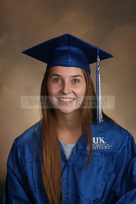 Krall, Paige graduation portrait taken at the fall Grad Salute at the University of Kentucky in Lexington, Ky., on 10/2/13.