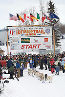 Clint Warnke Willow restart Iditarod 2008.