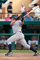 Mitch Abeita (28) of the Tampa Yankees during a game vs. the Lakeland Flying Tigers May 15 2010 at Joker Marchant Stadium in Lakeland, Florida. Tampa won the game against Lakeland by the score of 2-1.  Photo By Scott Jontes/Four Seam Images