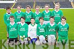 Pupils from Loreto N.S. pictured at the Killarney Garda football blitz in Fitzgerald Stadium, Killarney on Friday, Killarney, front row l-r: Lorcán McMonagle, Robert O'Brien, Fiachra O'Connell, Luke O'Donoghue, Cian Gammell and Harry Allen. Back row l-r: Darren Mulcahy, Abbey O'Donoghue, Saoirse O'Connor, Emily Cronin, Niamh Randles and Shannon O'Shea..