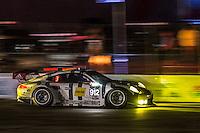Sunset during practice, #912 Porsche,  Earl Bamber, Jörg Bergmeister, Frédéric Makowiecki 12 Hours of Sebring, Sebring International Raceway, Sebring, FL, March 2015.  (Photo by Brian Cleary/ www.bcpix.com )