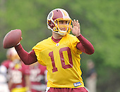 Ashburn, VA - May 2, 2009 -- Undrafted free agent quarterback Chase Daniel (10), out of the University of Missouri participates in the 2009 Washington Redskins mini-camp at Redskins Park in Ashburn Virginia on Saturday, May 2, 2008.  In 2007 Daniel was one of the 4 finalists for the Heisman Trophy, the highest award for a college footbal athlete..Credit: Ron Sachs / CNP